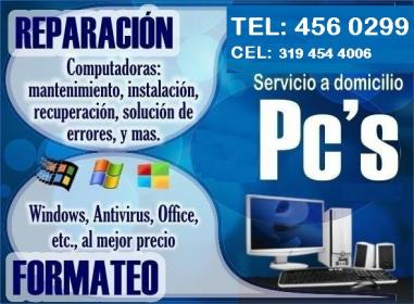 REPARACION COMPUTADORES MEDELLIN ANTIOQUIA TEL: 4560299