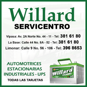 Batería Willard Servicentro