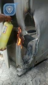 Incendio a Baño Publico en Zona Protegida.