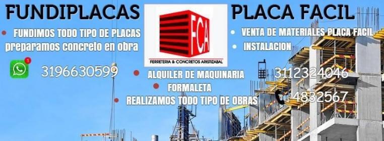 VENTA E INSTALACION DE PLACA FACIL Y METAL DECK FCA