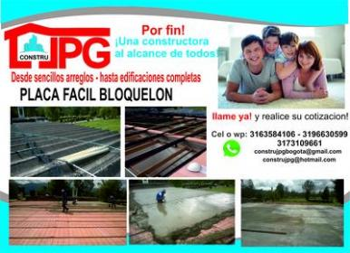 VENTA E INSTALACION DE PLACA FACIL Y METAL DECK