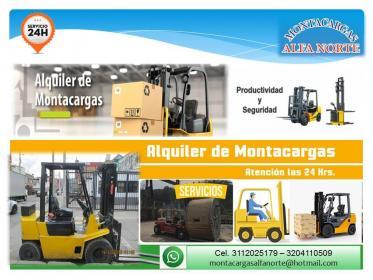 ALQUILER DE MONTACARGAS AL NORTE DE BOGOTA 3112025179