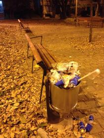 Falta de canceca de basura