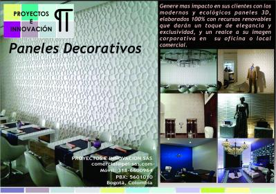 Paneles decorativos en 3d bogota ciudad en l nea - Paneles decorativos 3d ...